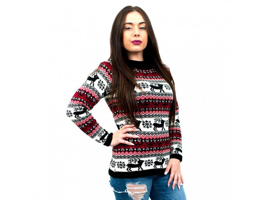 Dámsky vianočný sveter - čierny