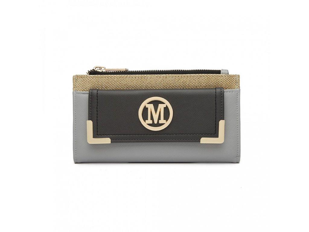 Luxusná dámska peňaženka Melinda - sivo-čierna