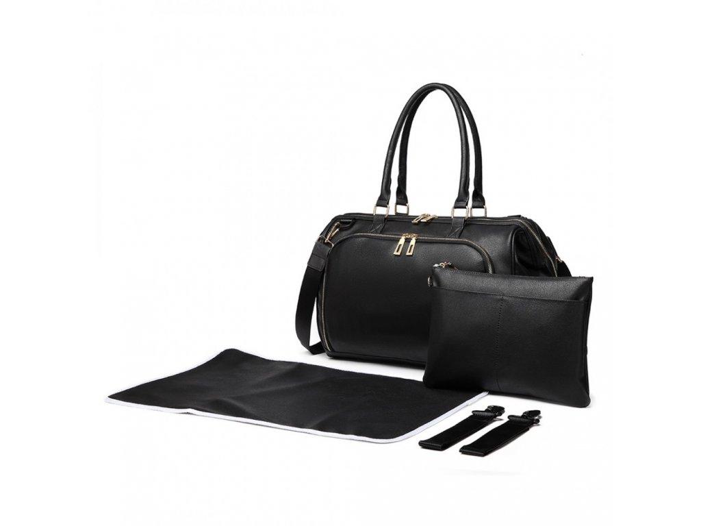 Prebalovacia taška na kočík Viktoria - čierna