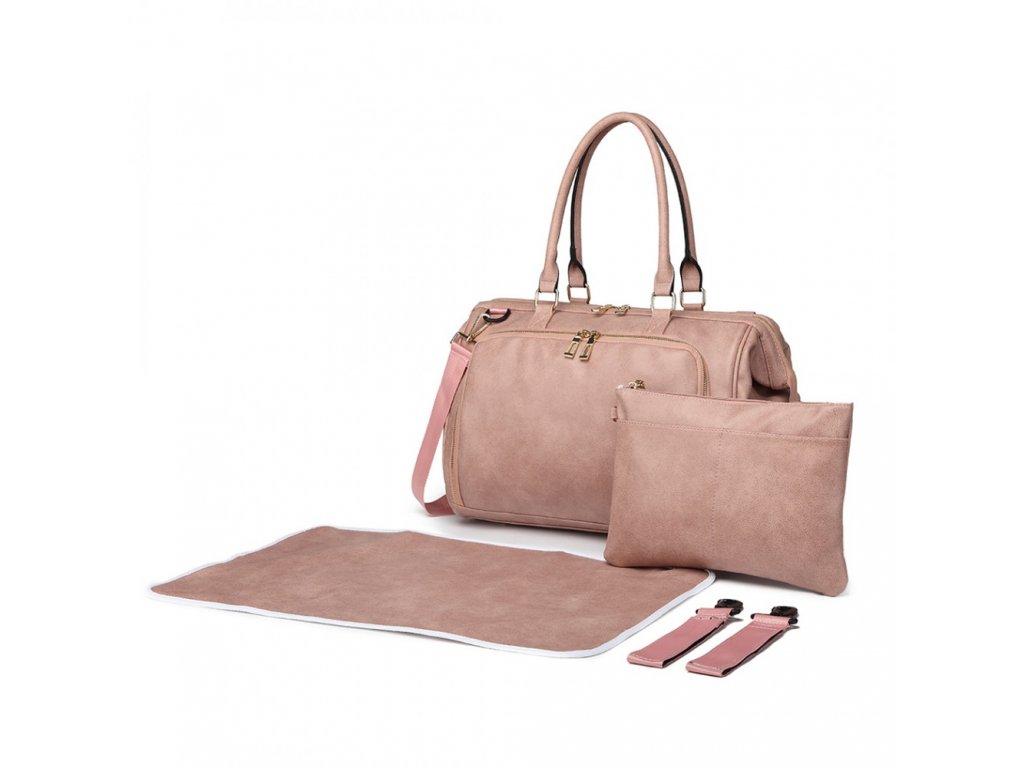 Prebalovacia taška na kočík Viktoria - ružová