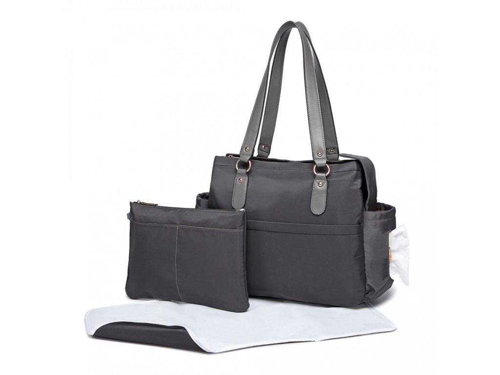 Prebalovacia taška na kočík Amanda - set 3 kusov - sivá