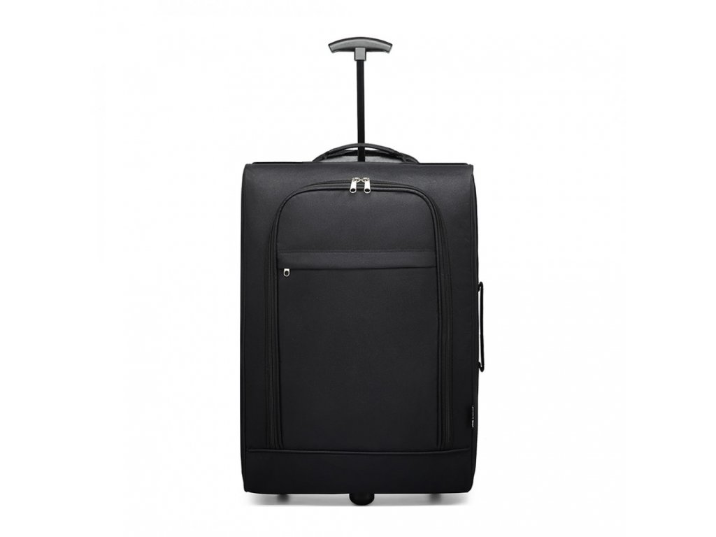Cestovný príručný kufor na kolieskach- čierny
