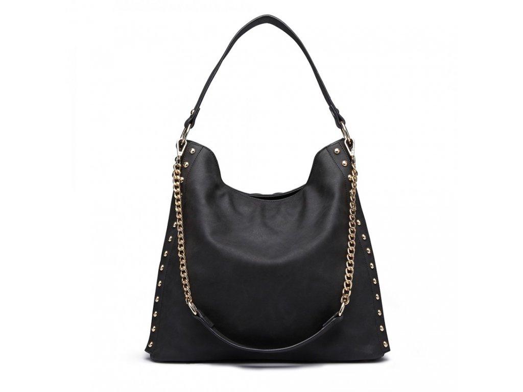 Elegantná kabelka na rameno Larisa - čierna