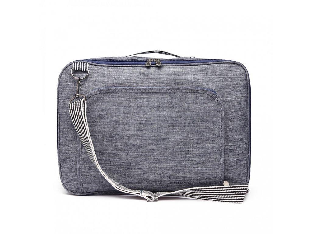 7d9b58c379 Multifunkčná pánska cestovná taška batoh Oxford - modrá - Batoháreň.sk