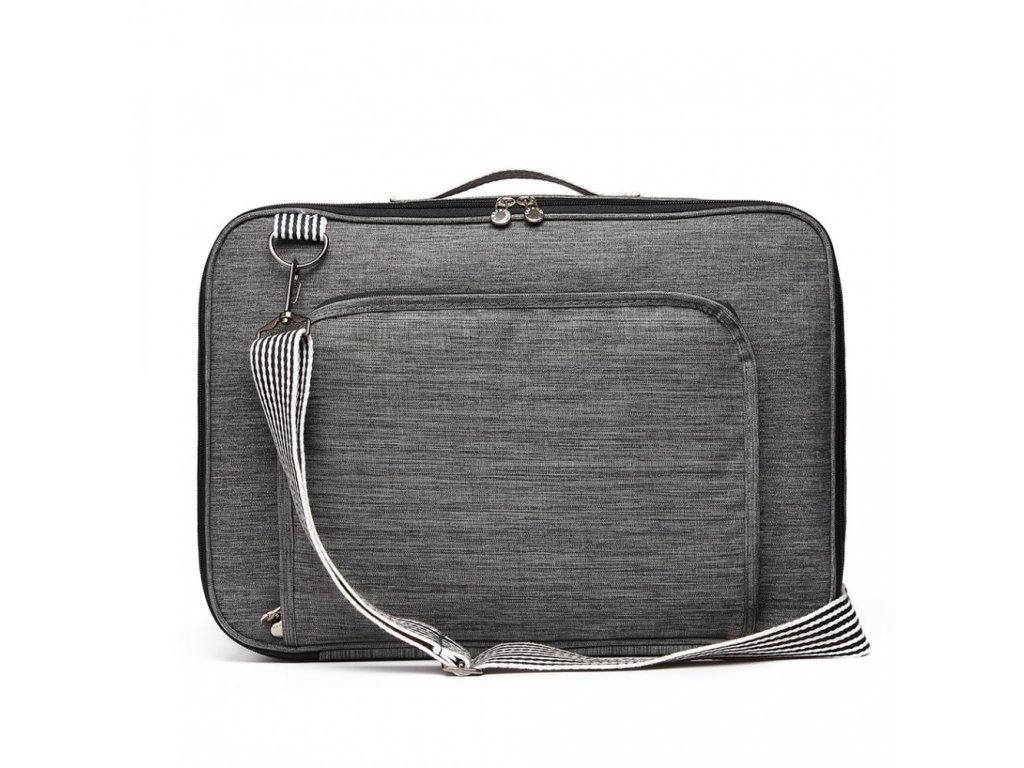 Multifunkčná pánska cestovná taška/batoh Oxford - šedá