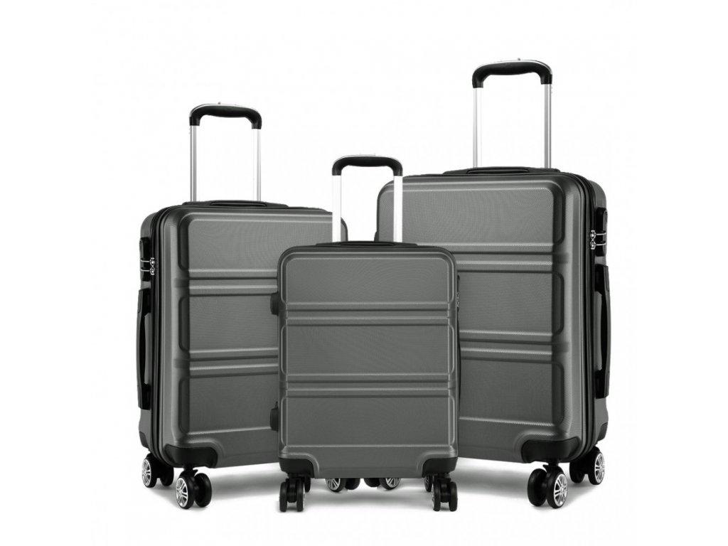 Sada  troch kufrov Elegant - šedá