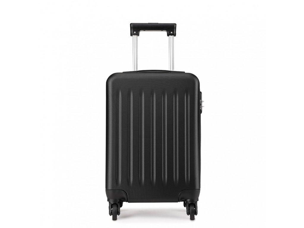 Kabínový kufor na kolieskach - čierny