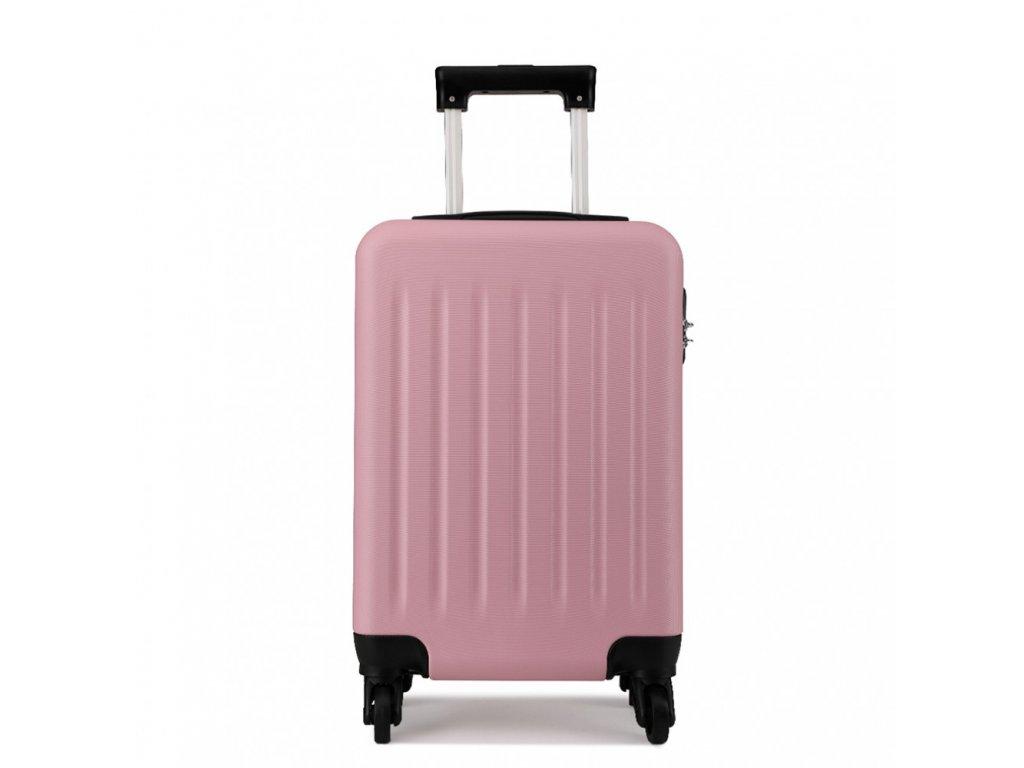 Kabínový kufor na kolieskach - ružový