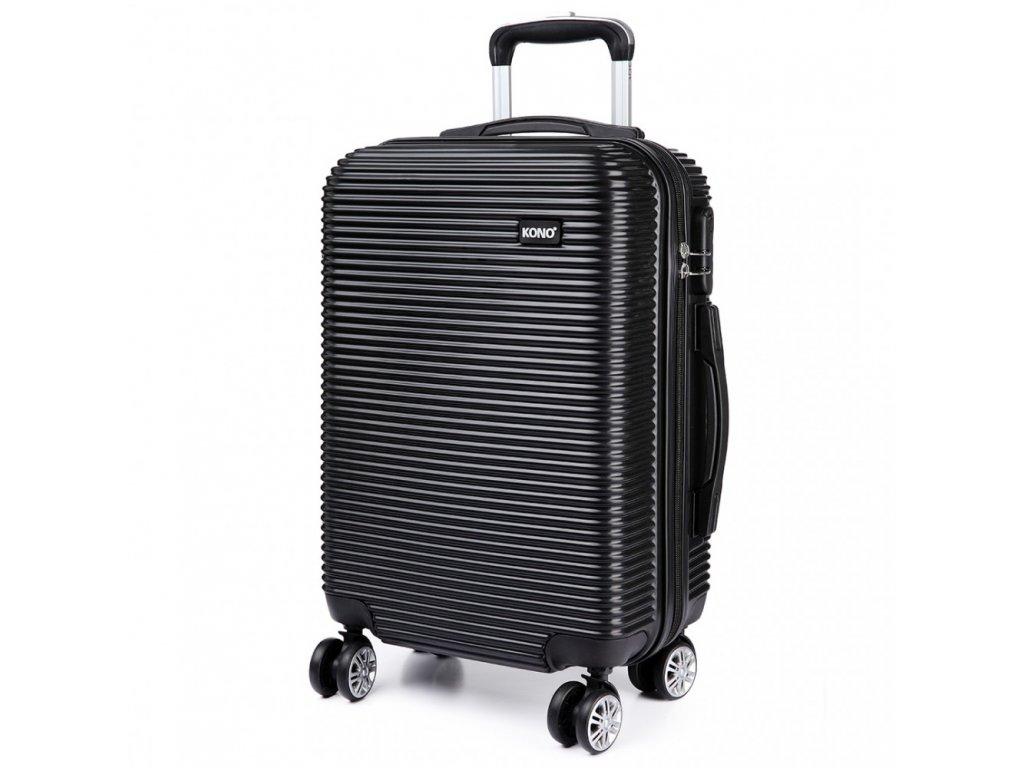 Kabínový kufor na kolieskach Stripe - čierny