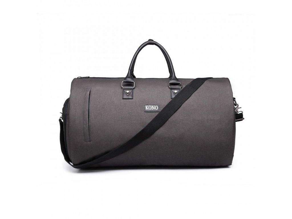 Cestovná skladacia taška na oblek - šedá