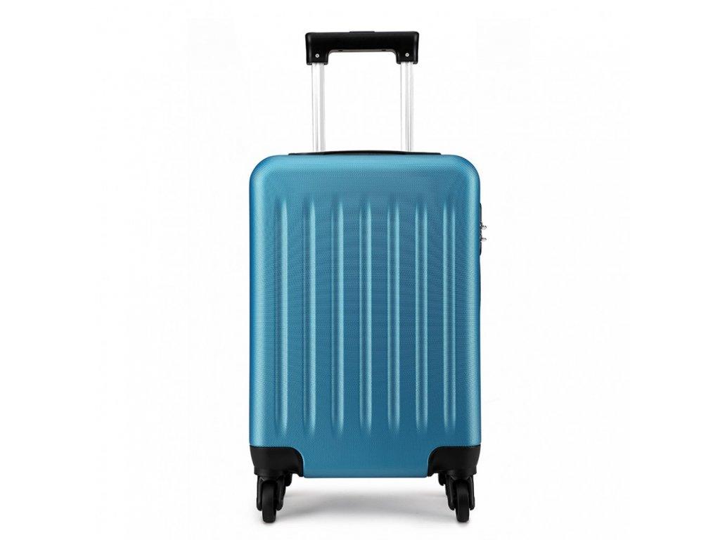 Kabínový kufor na kolieskach - modrý