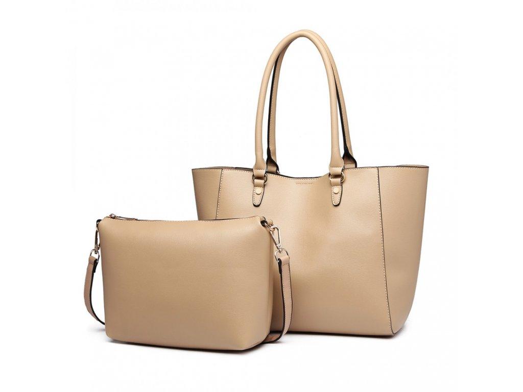 Dámska kabelka na rameno s kozmetičkou Tania - béžová