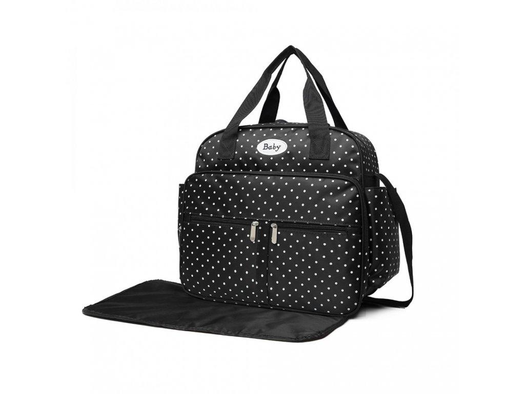 Prebalovacia taška bodkovaná - čierna