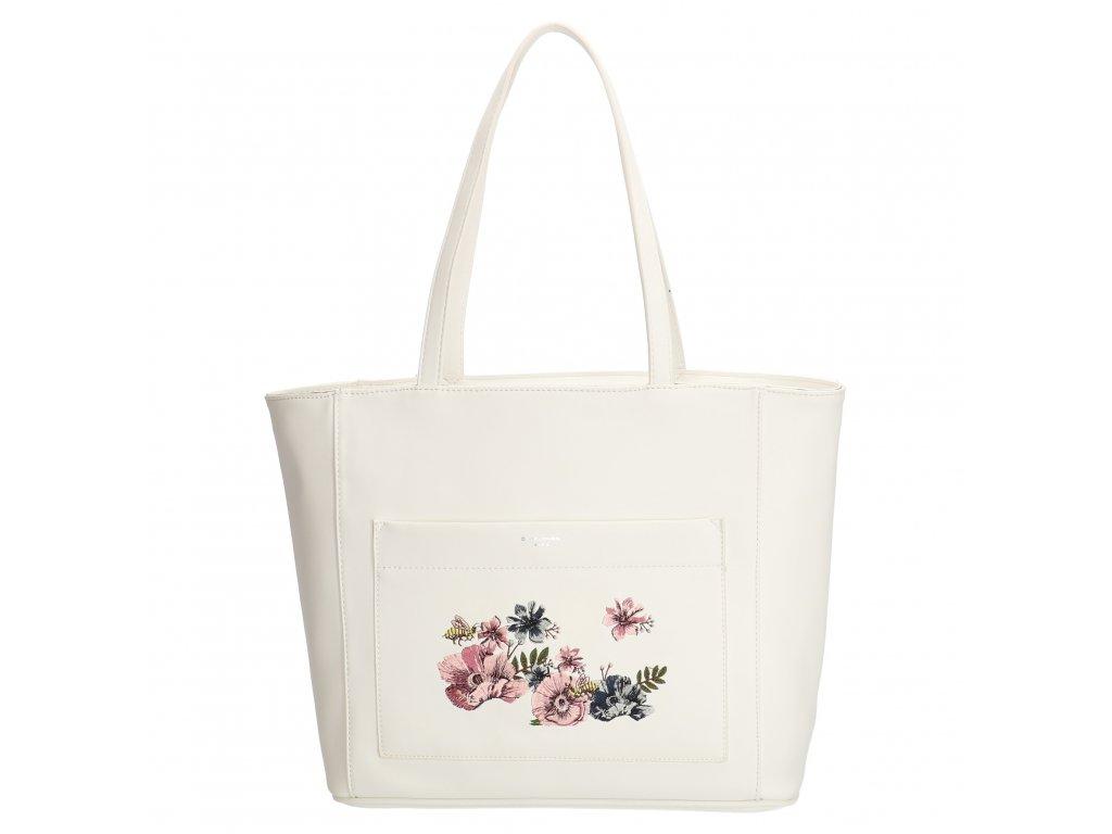 Romantická biela kabelka na rameno David Jones