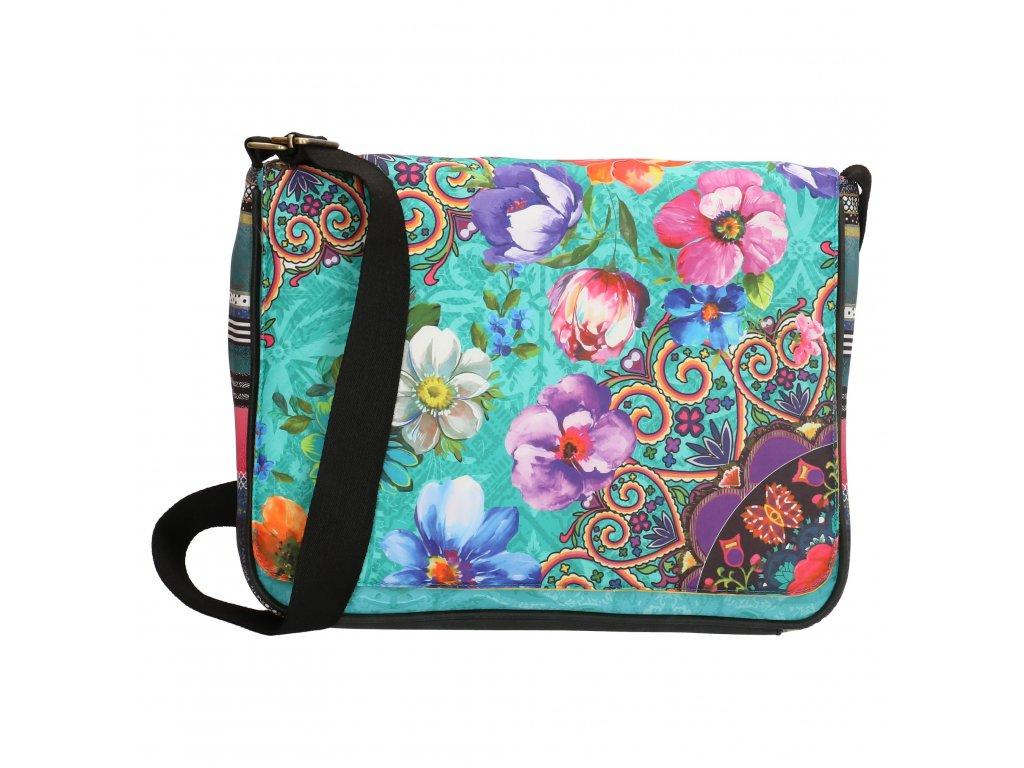 Štýlová taška na notebook Melli Mello - Turquoise Multi