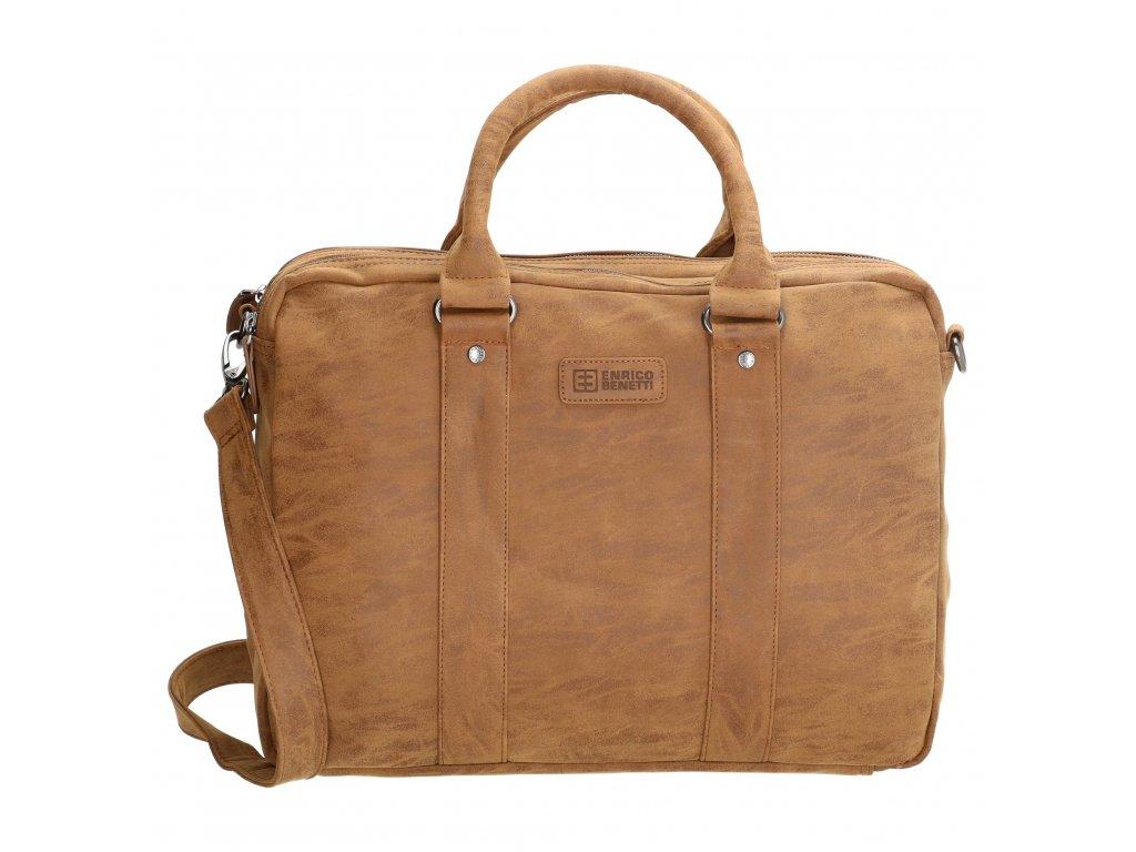 Pánska biznis taška na notebook Enrico Benetti - hnedá