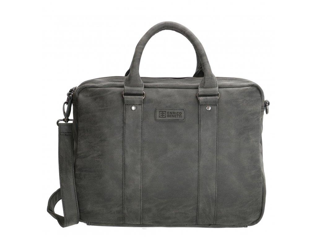 de62887984 Pánska biznis taška na notebook Enrico Benetti - čierna - Batoháreň.sk