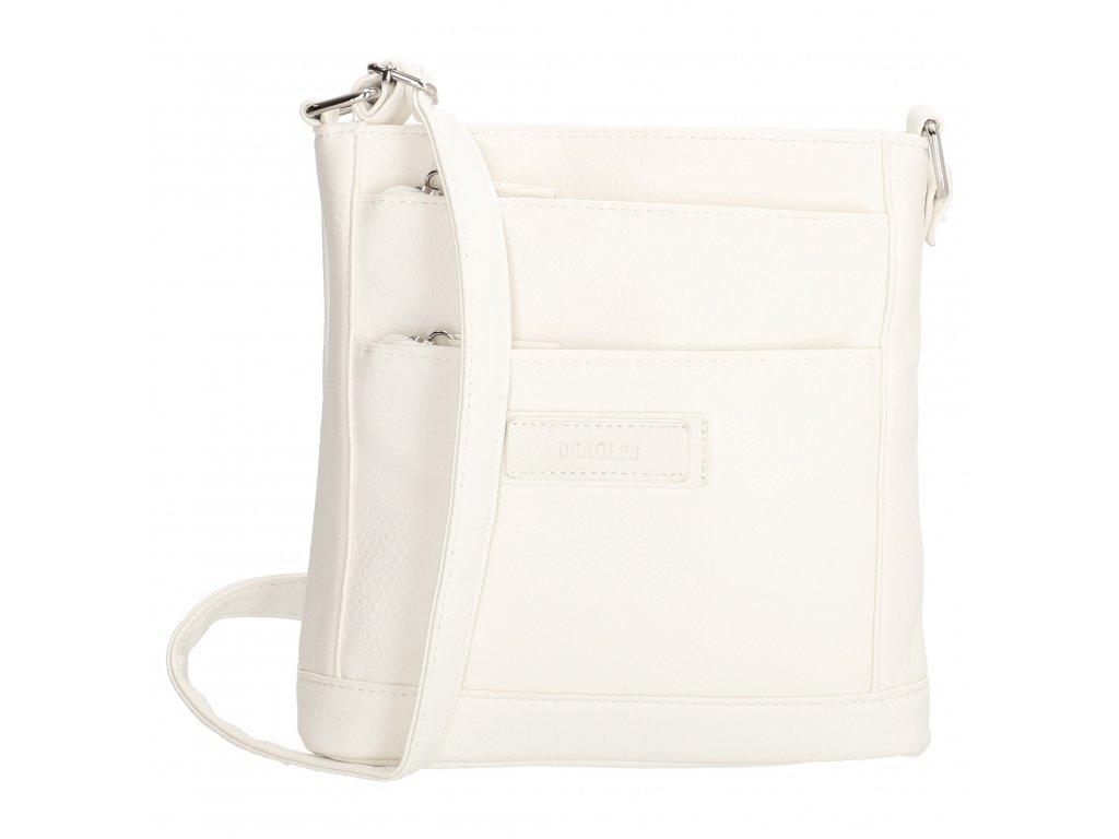 Dámska crossbody kabelka Beagles - biela