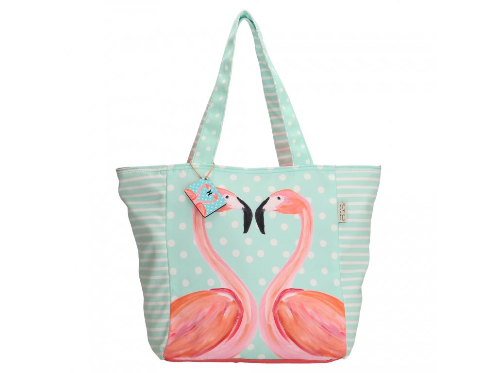 Dámska taška na rameno - Plameniak mint klasic - Pe Florence