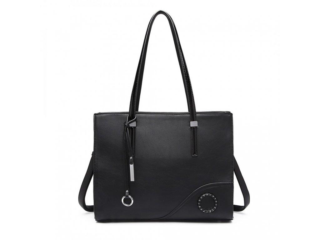 Luxusná elegantná dámska kabelka Lady - čierna