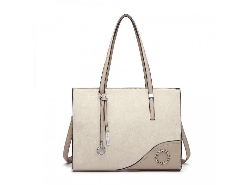 Luxusná elegantná dámska kabelka Lady - béžová