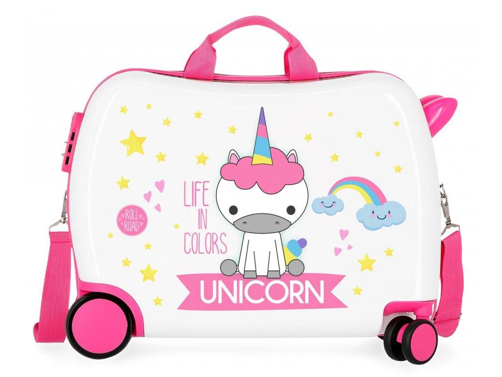 Detský kufor na kolieskach - odrážadlo - Unicorn