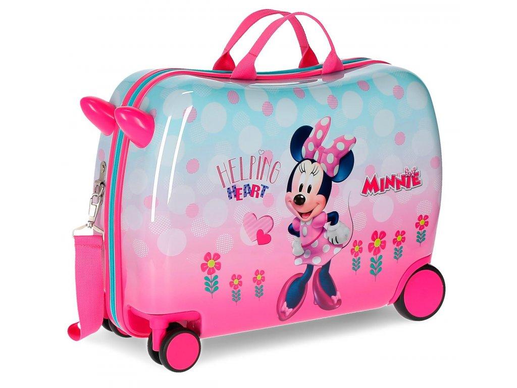76df3131aa1a6 Detský kufor na kolieskach - odrážadlo - Minnie Helping Heart ...