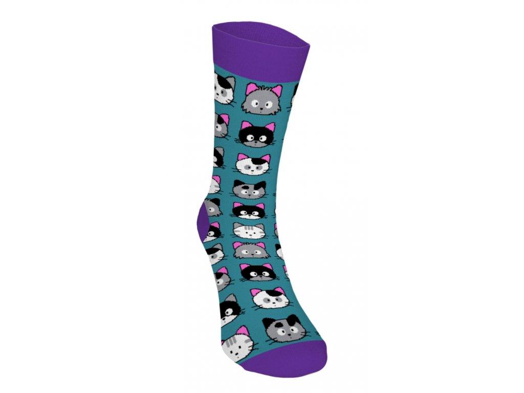 Veselé ponožky - Mačičky 1