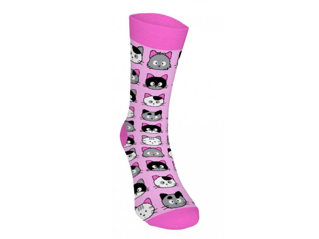 Veselé ponožky - Mačičky 3