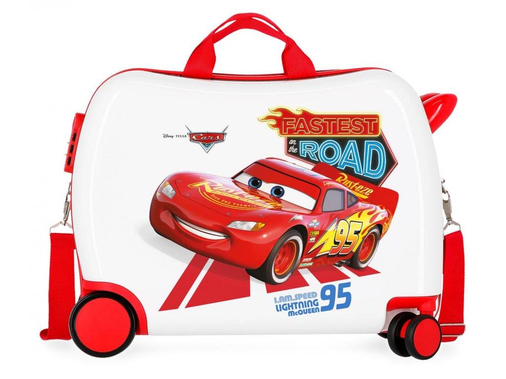 Detský kufor na kolieskach - odrážadlo - Disney Cars