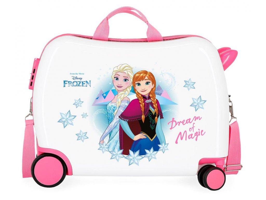 Detský kufor na kolieskach - odrážadlo - Disney Frozen