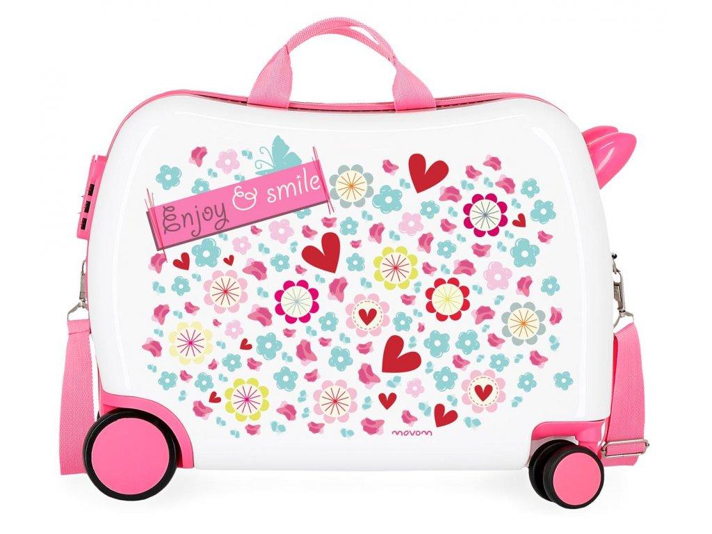 Detský kufor na kolieskach - odrážadlo - Enjoy & Smile