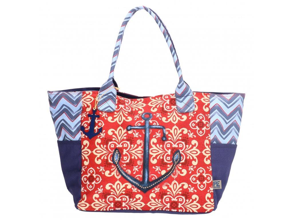 Veľká plážová taška - Kotva - PeFlorence
