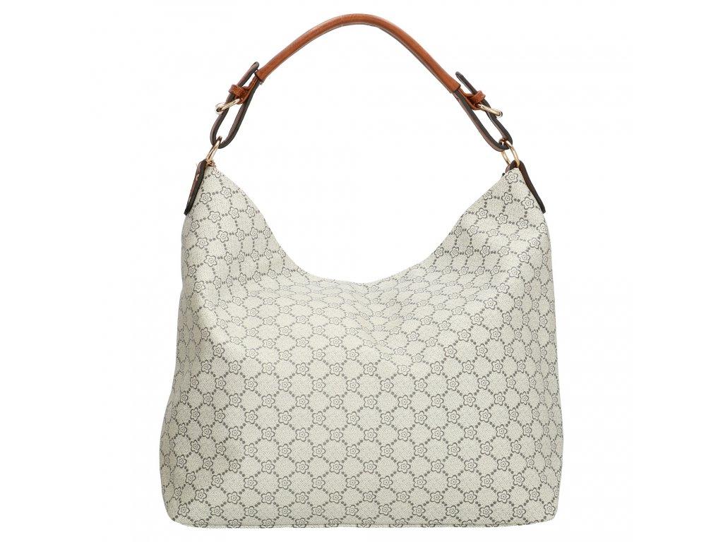 Veľká elegnatná taška - shoper - hnedo sivá