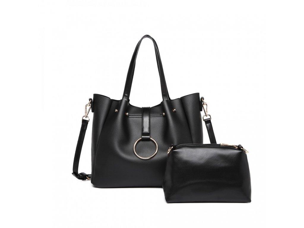 Štýlová kabelka 2 v 1- Lora - čierna