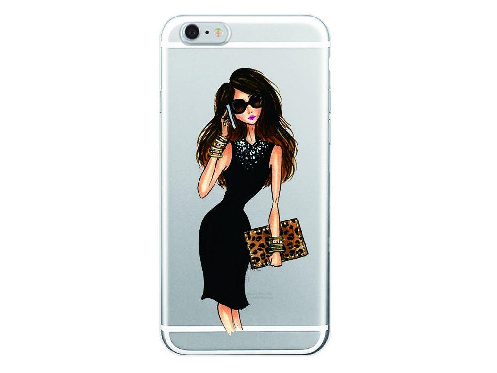 Kryt na mobil Iphone - Slečna v čiernych šatách
