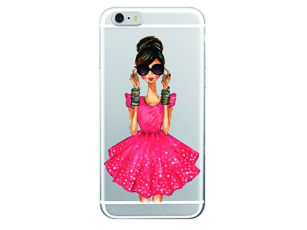 Kryt na mobil Iphone - Slečna v červených šatách