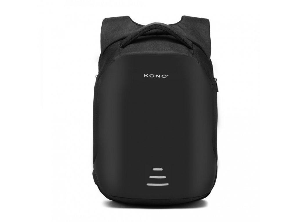 Bezpečnostný USB batoh proti vykradnutiu Mondy - čierny