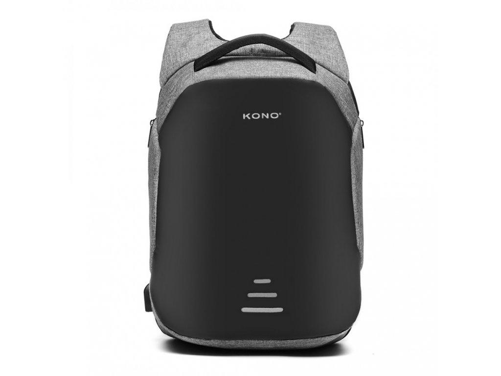 Bezpečnostný USB batoh proti vykradnutiu Mondy - sivý