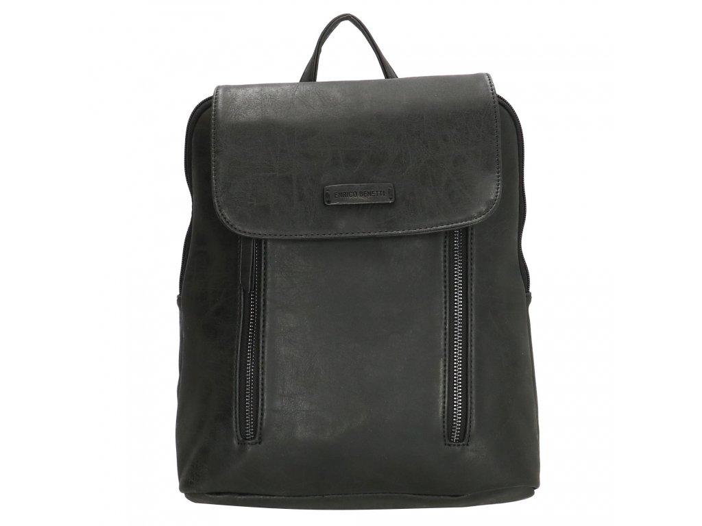 Módny kožený batoh Nuoméa  Enrico Benetti - čierny