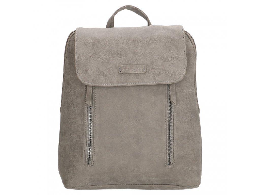 Módny kožený batoh Nuoméa  Enrico Benetti - sivý