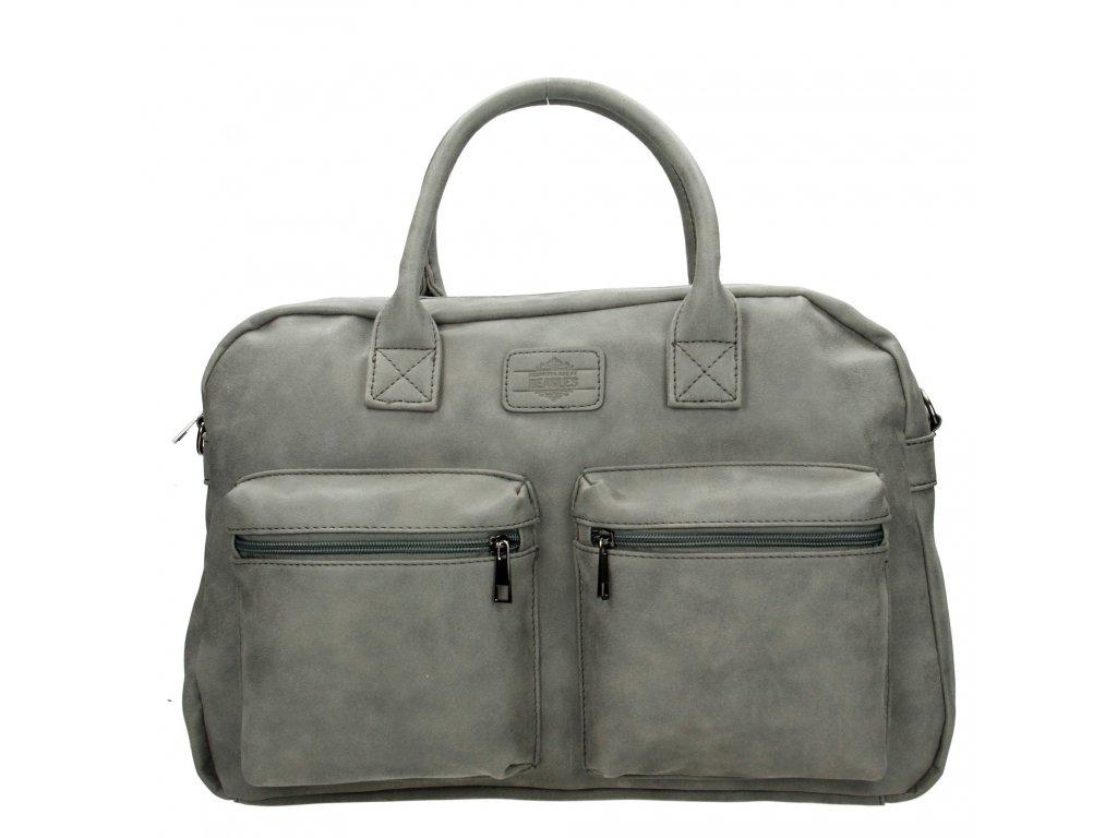 Dámska príručná taška Beagles - sivá