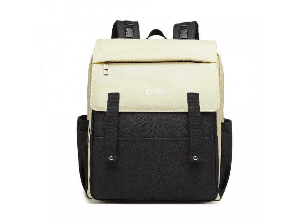 Multifunkčný MAMA batoh na kočík so zabudovaným ohrievačom a USB portom - čierny