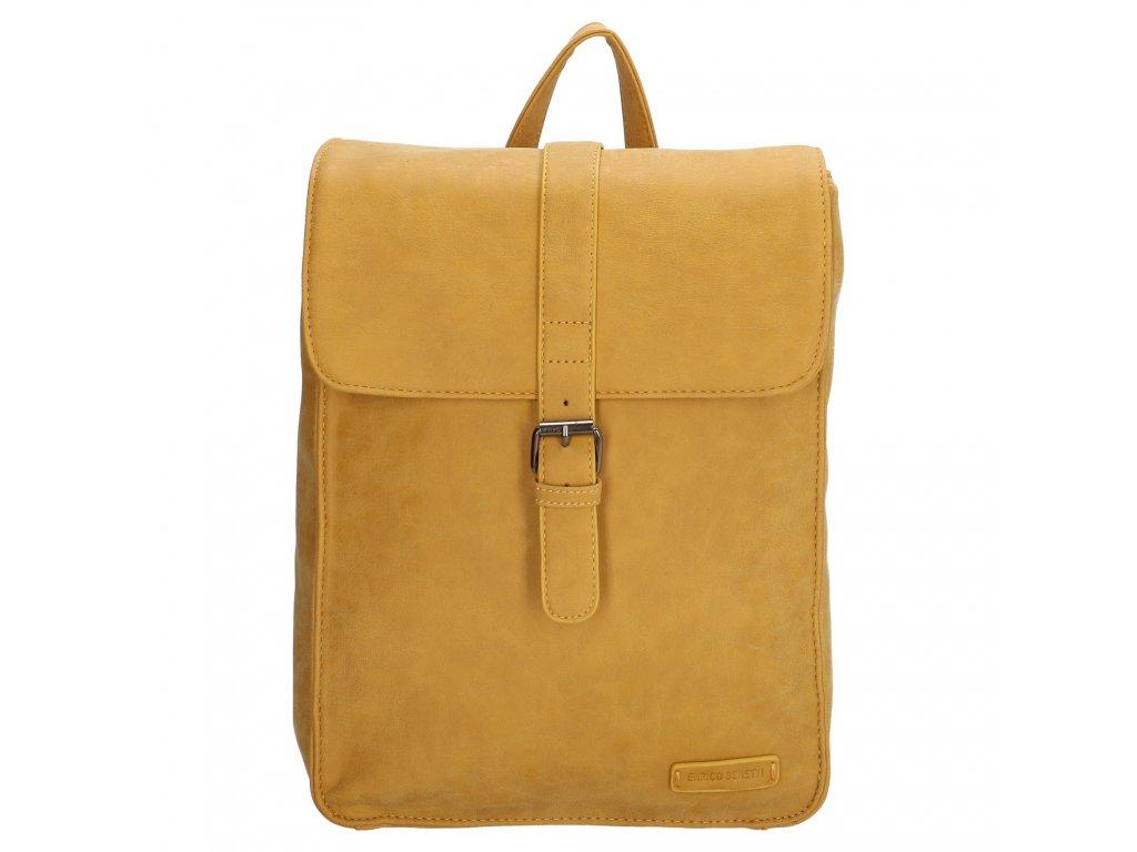 Moderný dámsky batoh Enrico Benetti Kate - okrový