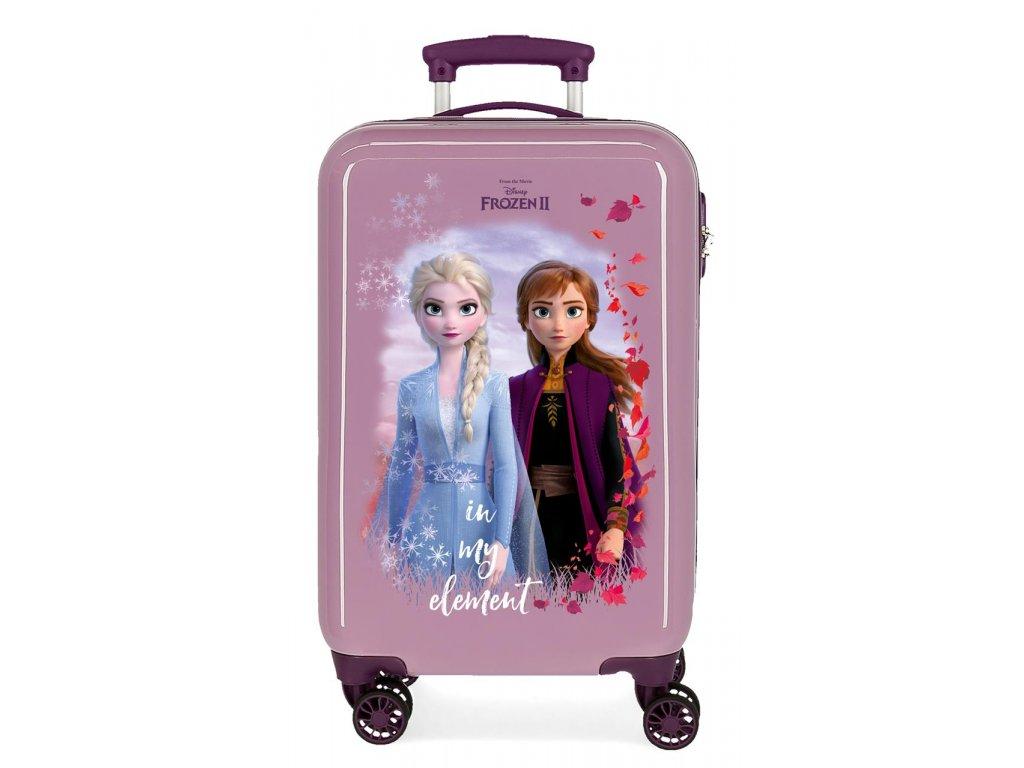 Kabínový kufor na koliesklach Frozen 2 - fialový