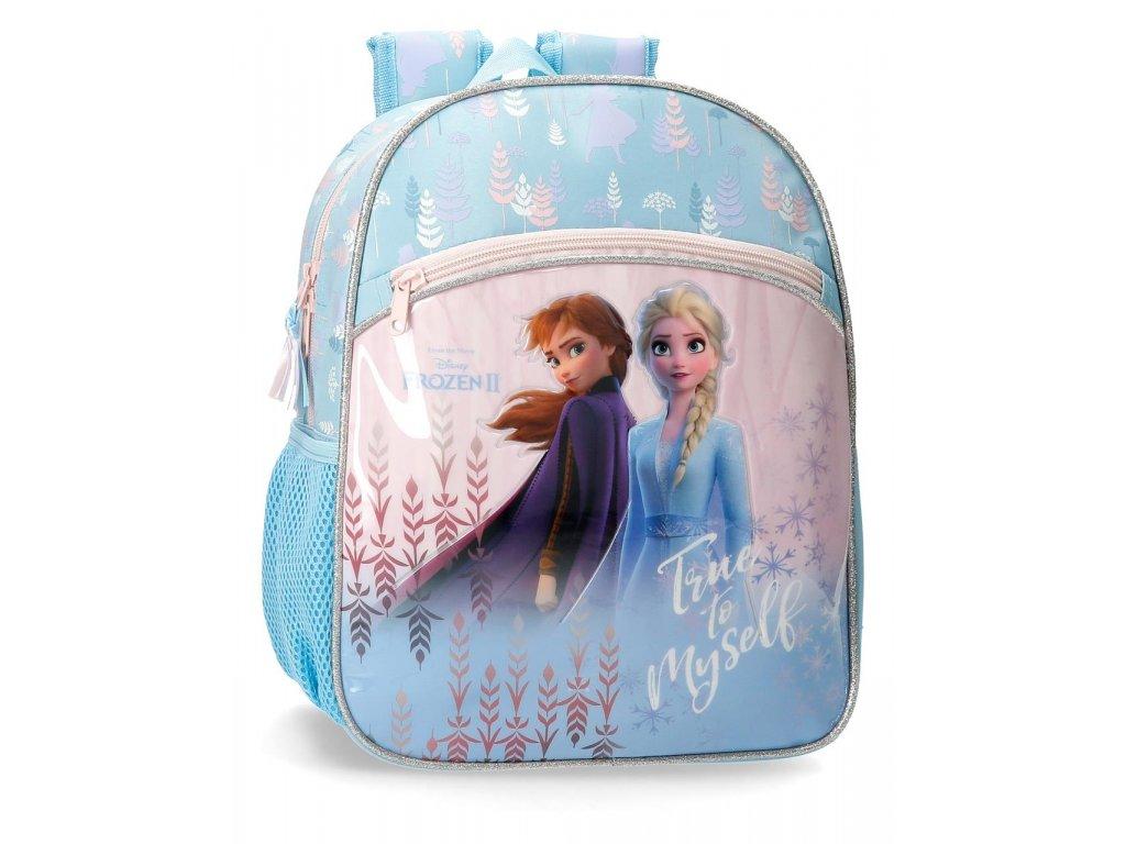 Rozkošný detský jednokomorový batoh Frozen 2 - modrý