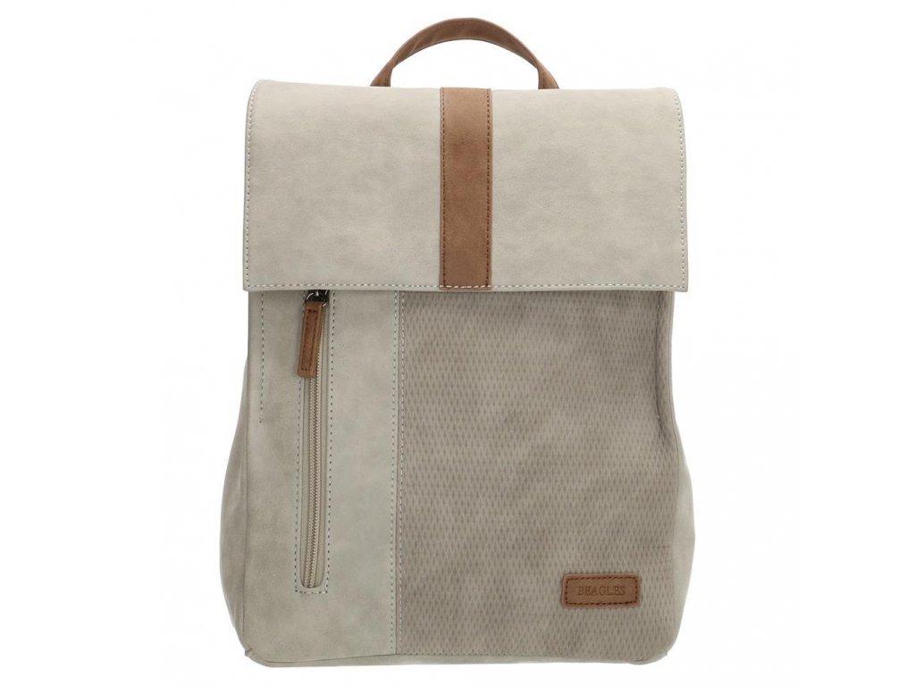 Dámsky batoh Beagles Brunete - svetlo sivý