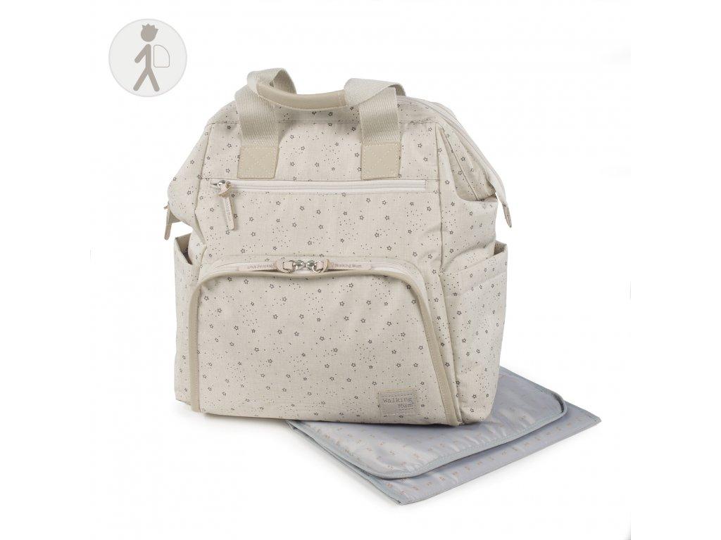 Prebalovací batoh na kočík Walking Mum Dreamer - béžový