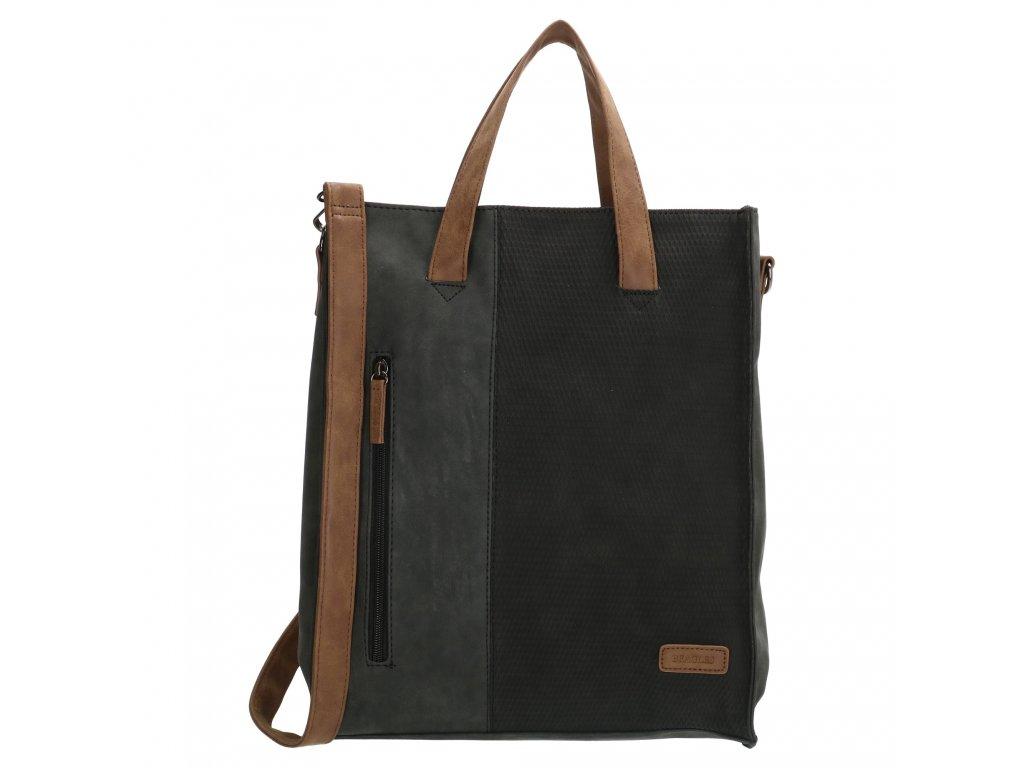 Dámska taška shoperka Beagles Brunete - čierna