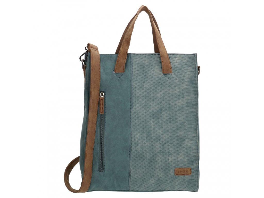 Dámska taška shoperka Beagles Brunete - riflová modrá